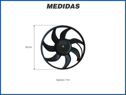 Eletroventiladores ELETROVENTILADOR RADIADOR - CHEVROLET VECTRA 2.0 / 2.2 - 2 PINOS Imagem 2
