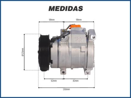 Compressores COMPRESSOR 10S15 TOYOTA HILUX DIESEL SRV / SW4 / NEW HOLLAND CNH - 2005>2015 Imagem 3
