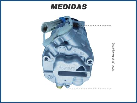 Compressores COMPRESSOR MAHLE - CHEVROLET CELTA / PRISMA - 1.0 / 1.4 - 2012>2015 Imagem 4