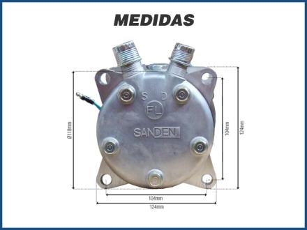 Compressores COMPRESSOR SANDEN SD5H14 (508) 5306 R-134A Imagem 5