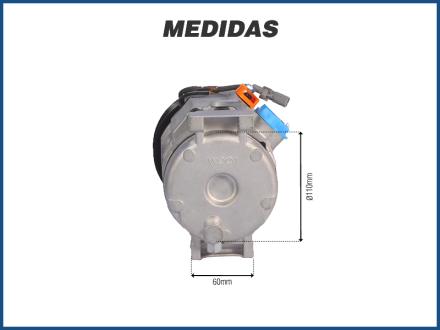 Compressores COMPRESSOR 10S15 TOYOTA HILUX DIESEL SRV / SW4 / NEW HOLLAND CNH - 2005>2015 Imagem 4